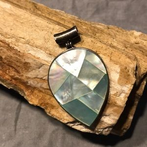Mother of Pearl & Sterling Pendant